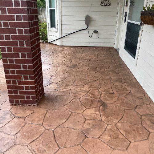 cut cobblestone stamped concrete