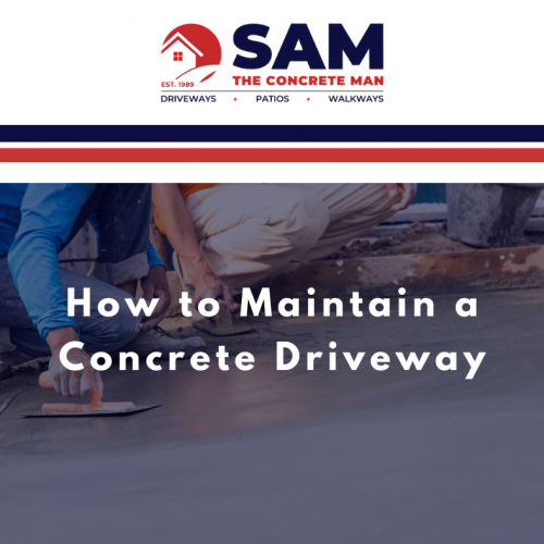 How to Maintain Concrete Driveway